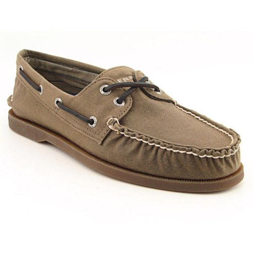 Sperry Top-Sider Mens Authentic Original 2-Eye Oil Cloth,Dark Oak,8 D(M) US