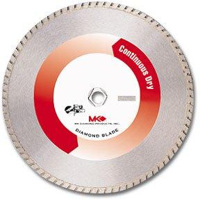 "MK Diamond 150680 (MK-950D) 10"" Dry Cutting Turbo Rim Blades for soft abrasive material, Premium Grade, Width: .090"""