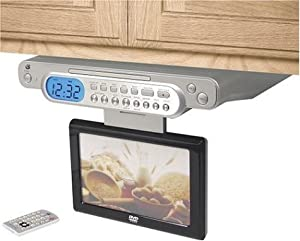 GPX KCLD8886DT Under Cabinet 8.1 inch Cable-ready LCD TV, DVD Player with Remote Control (Discontinued by Manufacturer)