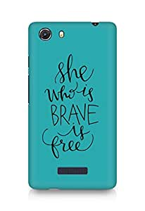 AMEZ she who is brave is free Back Cover For Micromax Unite 3