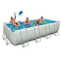 Hot Sale Intex Rectangular Ultra Frame Pool Set, 18-Feet by 9-Feet by 52-Inch