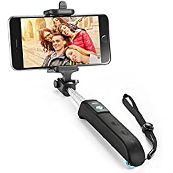 Selfie Stick, Anker Extendable Bluetooth Monopod with Built-in Remote Shutter for iPhone 7/7 plus/Se/6s/6/6 Plus, Samsung Galaxy S7/S6/Edge, Note 5/4, LG G5, Moto X/G and More