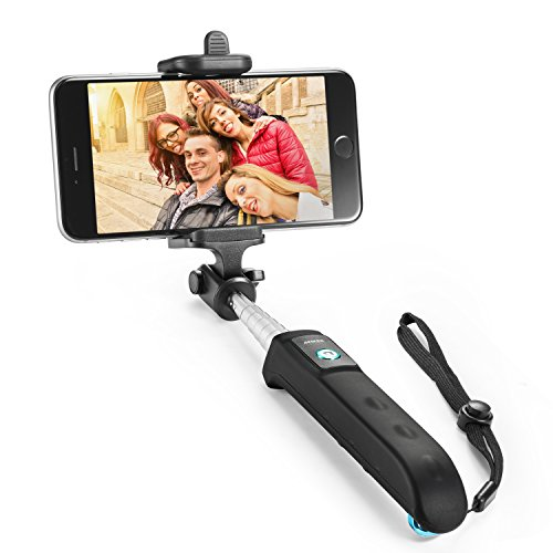 selfie stick anker extendable bluetooth monopod with built in remote shutter for iphone 7 7. Black Bedroom Furniture Sets. Home Design Ideas