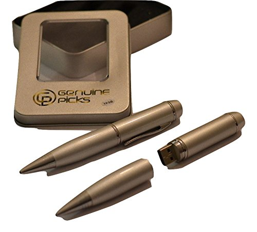 Executive Pen Set. Silver Ballpoint Pen. USB 16gb Flash Drive. Pen Gift Box. Fancy Grade A Quality Full Capacity. Jump Drive 16gb. Gift Ideas. (16GB, Silver)