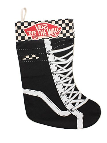 Vans Black and White Checkered Christmas Stocking