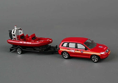 Daron FDNY Die-Cast Auto Trailer Set (1:64 Scale)