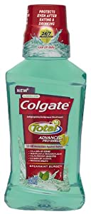 Colgate Total Advanced Pro-Shield Mouthwash, Spearmint Surge, 8.4 Fluid Ounce