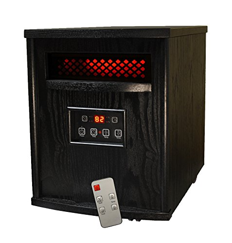 SUNHEAT Thermal Wave TW1500 Electric Portable 1500 Watt Infrared Heater with Remote Control - Black