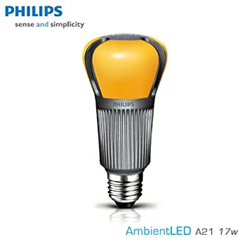 philips ambient 17 watt led light bulb dimmable 75 watt replacement warm white 2700k. Black Bedroom Furniture Sets. Home Design Ideas