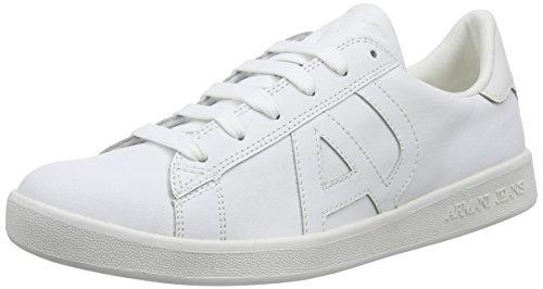 Armani Jeans06565YO - Scarpe stringate Uomo , Bianco (Weiß (BIANCO - WHITE 10)), 43