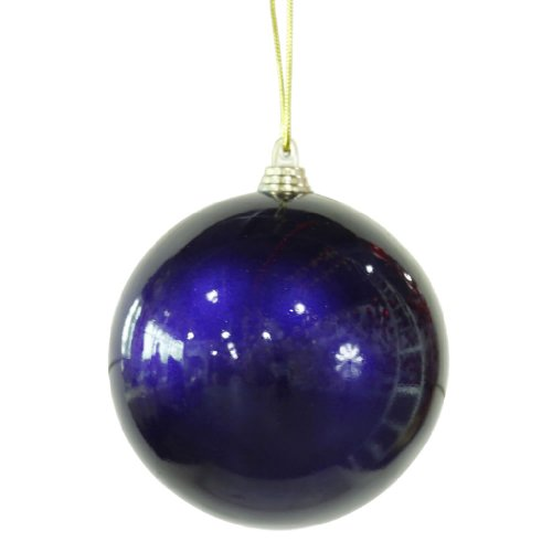 Vickerman 28525 – 4″ Sea Blue Candy Finish Ball Christmas Tree Ornament (4 pack) (M122022)