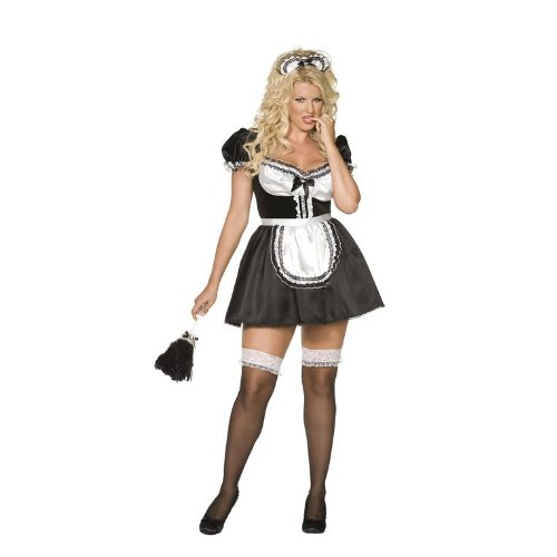 Fever Envy Sexy French Maid Plus Size Costume - Ladies