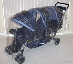 Triplet ( Front to Back ) Stroller Rain and Weather Shield
