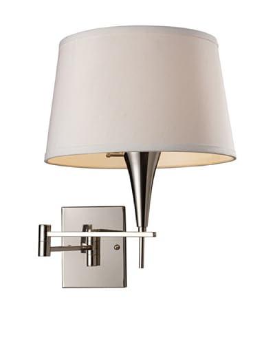 Artistic Lighting 1-Light LED Swing Arm Sconce, Polished Chrome
