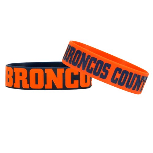 NFL Denver Broncos Bulky Bandz Bracelet 2-Pack