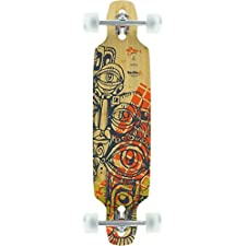 "Bustin Boards Mission Ishtar Eyes Complete Downhill Longboard Skateboard - 8.5"" x 36"""