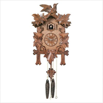 Quartz Cuckoo Clocks with Five Leaves and One Bird Design
