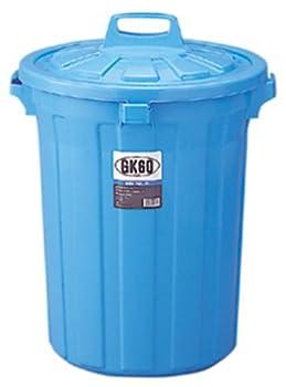 【丈夫な業務用の丸型ごみ容器】GK ゴミ容器本体 丸60型 ブルー