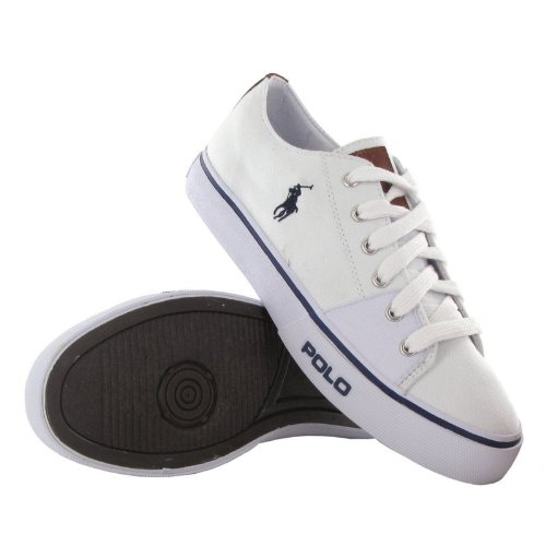 Polo Ralph Lauren Cantor Low White Blue Mens Trainers