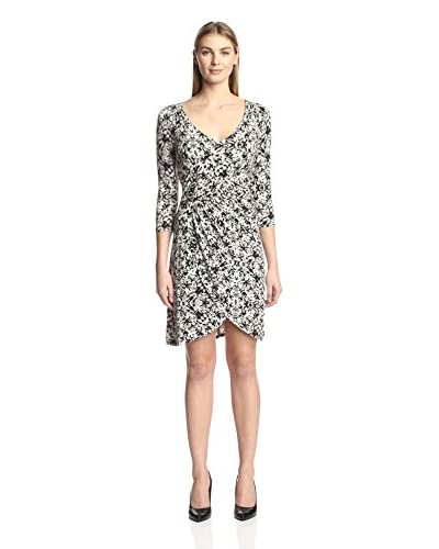 Three Dots Women's Printed Wrap Dress