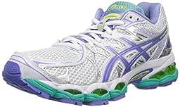 ASICS Women\'s Gel-Nimbus 16 Running Shoe,White/Periwinkle/Mint,7 M US