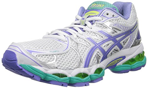 ASICS Women's Gel-Nimbus 16 Running Shoe,White/Periwinkle/Mint,7.5 M US
