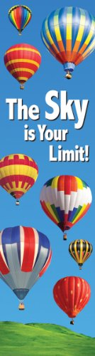 Eureka Vertical Classroom Banner, The Sky is Your Limit, 45 x 12 Inches (849712)