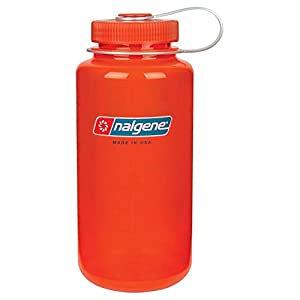 Nalgene BPA Free Tritan Wide Mouth Water Bottle, 1-Quart, Safety Orange