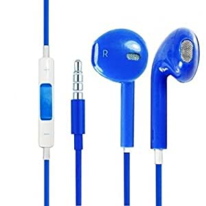 Standard Stylish 3.5mm In Ear Earbud Earpod Stereo Sound Noise Free Voice Dialing Headphones Voice Dialing With Mic for Xiaomi Redmi 2 and any Phone / Tablet / MP3 player / TV / Radio etc which has a 3.5 mm jack. Colour : Blue