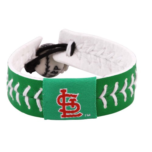 MLB St. Louis Cardinals St. Patrick's Day Baseball Bracelet at Amazon.com