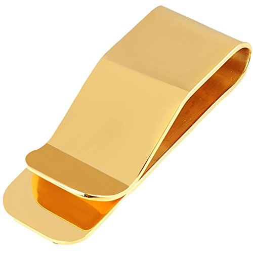 Moandy Fashion Jewelry Stainless Steel Money Clip Card Holder For Men Gold