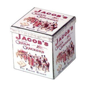 Dollhouse SQUARE TIN, JACOBS CREAM CRACKERS