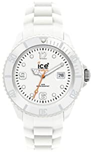 Ice Watch - SI.WE.S.S.09 - Ice Blanc - Montre Femme - Quartz Analogique - Cadran Blanc - Bracelet Silicone Blanc - Petit Modèle de Ice Watch