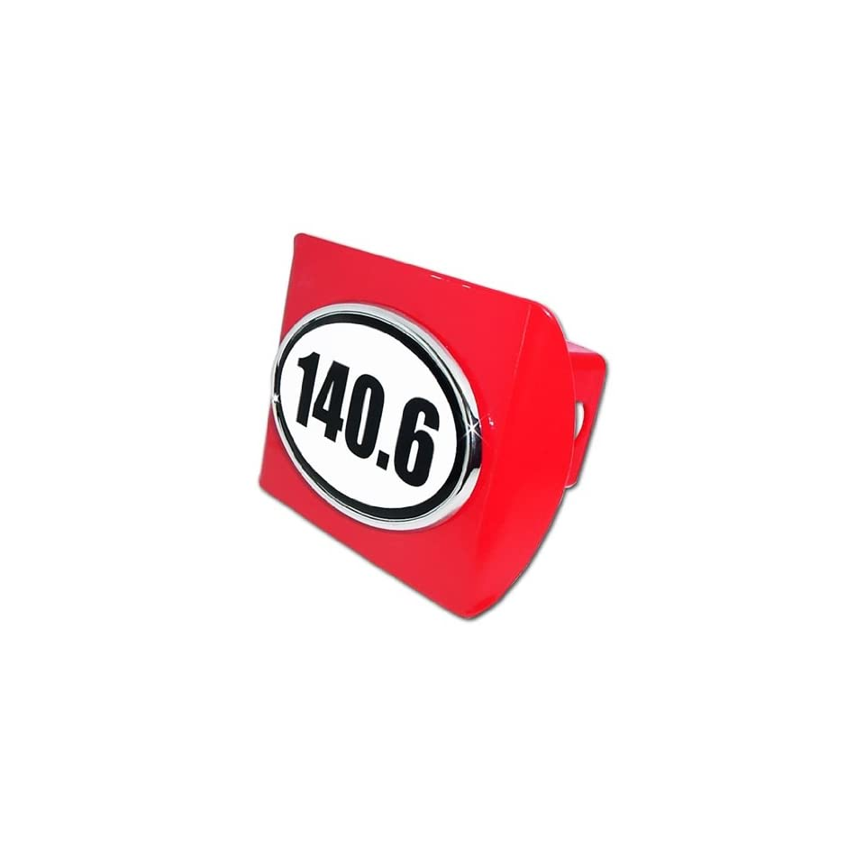 IronMan 140.6 Premium Red Metal Trailer Hitch Cover with