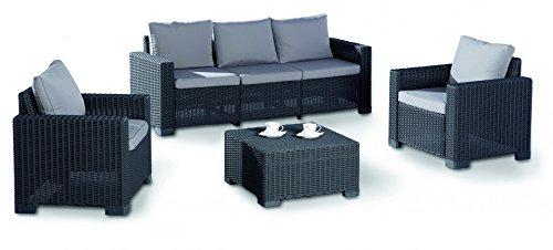 BEST 96114050 4-teilig Loungegruppe Mombasa, graphit / hellgrau günstig online kaufen