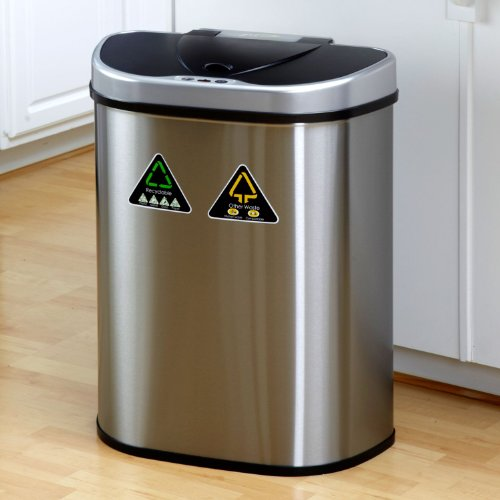 Stylish Stainless Steel Trash Cans For The Kitchen 2014