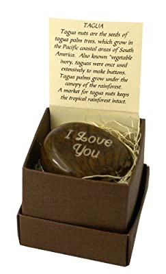 Engraved Tagua Nut, Boxed, I Love You