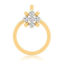 Forever Carat 18k Yellow Gold nose pin diamond Nose Pin for Women