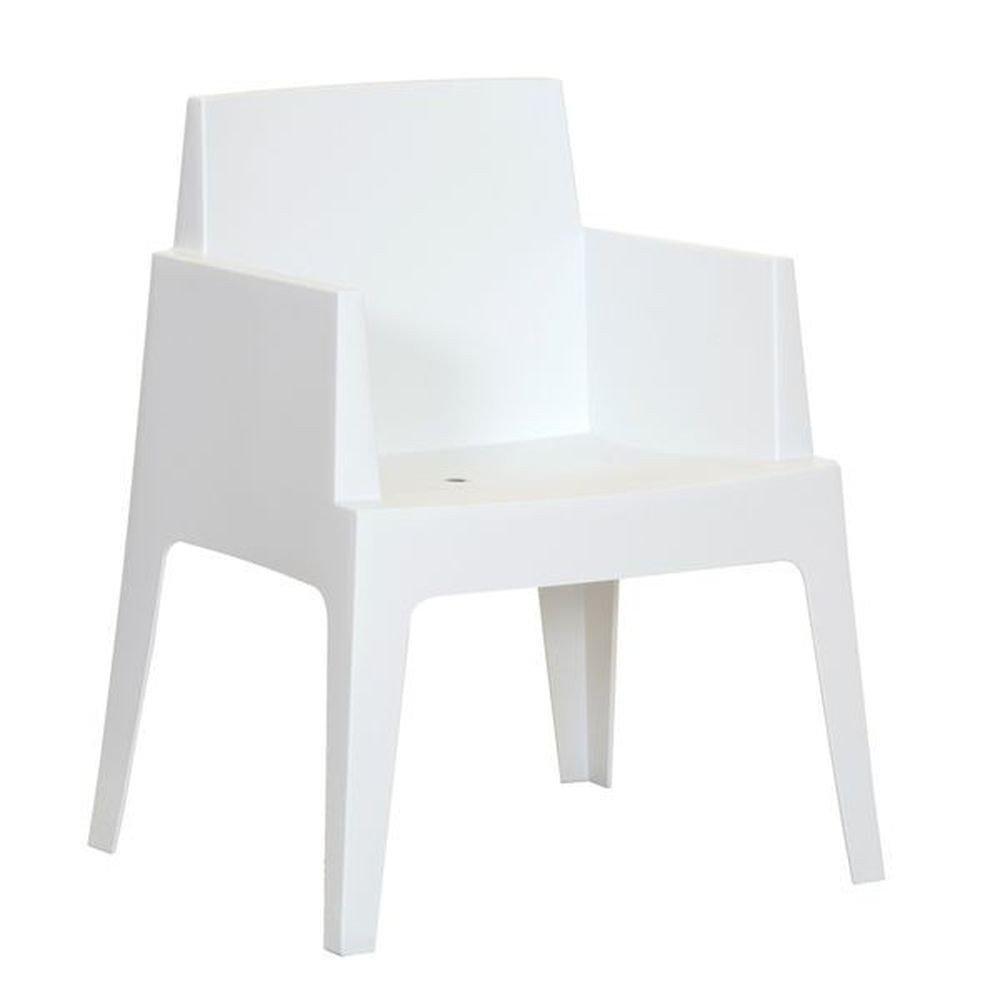 Gartensessel stapelbar aus Kunststoff Weiß - Modell La Dolce Vita