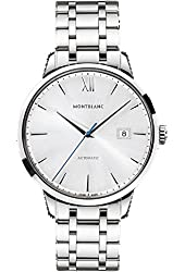 Montblanc Meisterstuck Heritage Automatic Silver Dial Brown Leather Mens Watch 111581