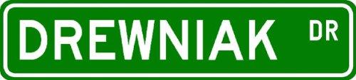 DREWNIAK Street Sign ~ Personalized Family Lastname Novelty Sign ~ Gameroom, Basement, Garage Sign ** Aluminum 4 x 18 - Buy DREWNIAK Street Sign ~ Personalized Family Lastname Novelty Sign ~ Gameroom, Basement, Garage Sign ** Aluminum 4 x 18 - Purchase DREWNIAK Street Sign ~ Personalized Family Lastname Novelty Sign ~ Gameroom, Basement, Garage Sign ** Aluminum 4 x 18 (The Lizton Sign Shop, Home & Garden,Categories,Patio Lawn & Garden,Outdoor Decor)