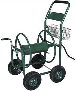 chariot enrouleur de tuyau d 39 arrosage avec corbeille pour 70 m de tuyau jardin. Black Bedroom Furniture Sets. Home Design Ideas