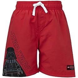 LEGO Wear - Costume da bagno Star Wars, Bambini e ragazzi, rosso (Rot (Red)), 104 cm