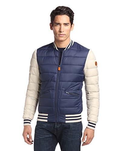 Save The Duck Men's Giga Puffer Varsity Jacket