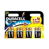Duracell MN1500ULTRA-B8 Alkaline AA Size Battery (Pack of 8)