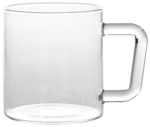 Borosil Vision Classic Delite Mug Set, 305ml, Set of 4, Transparent