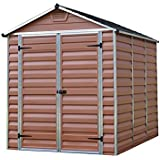 Palram SkyLight Amber Plastic Shed, 6ft x 8ft- Brown