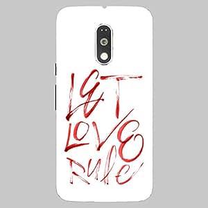 Back cover for Moto G (4th Gen) Let Love Rule