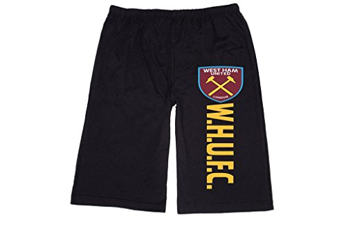 RBST Men's West Ham United FC London logo Lounge breeches Shorts Pants XL Black (West Ham United Fc Shorts compare prices)