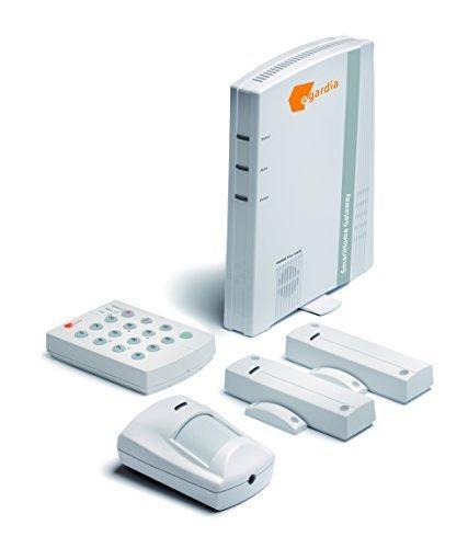 Egardia SmartHome Funk Alarmanlage mit Zentrale, Bedienteil, 2 Öffnungsmelder und Bewegungsmelder